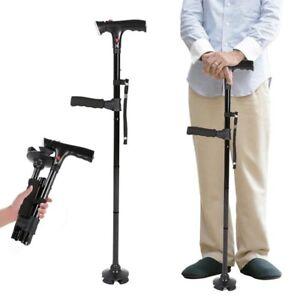 Folding Elder Cane LED Collapsible With alarm Walking Sticks Elder Cane Crutches