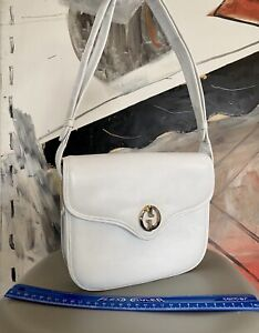 Leather Gucci Bag Vintage White 1973 - NO RESERVE