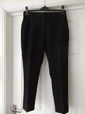 PRIMARK Smart Trousers Classic Black Thin Tailored Fit Tapered Leg UK Size 10