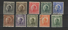 Royaume des Serbes Croates 1924 Alexandre 1er série 10 timbres oblitérés/T2075