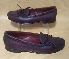 Timberland Made in Usa Mens Tassel Loafers Burgundy Leather Shoes 10.5 M