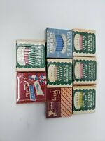 Vintage Birthday Candles Standard Oil Co. & Penn Lot of 8 Boxes New Sealed