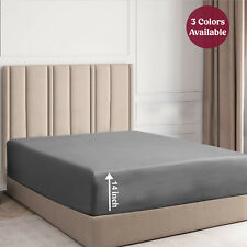 Fitted Sheet 1800 Series Soft Brushed Microfiber Deep Pocket King Queen Size
