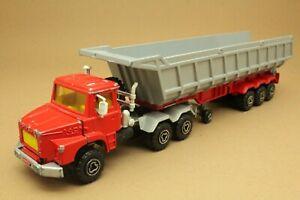 "Camion SCANIA 140 Super ""Benne-carrière"" - MAJORETTE - Made in France - éch 1:60"
