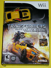 Nintendo Wii Video Game - Transformers Dark of the Moon Stealth Force Bundle NEW
