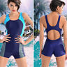 New Women monokini Swimsuit Sports Tankini One-Piece Board Shorts Bathing Bikini