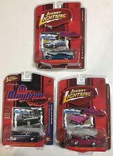 Johnny Lightning Mopar Mayhem lot of 3 - 71 Dodge Challenger Plymouth GTX 1/64