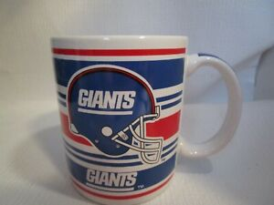 """New York Giants NFL Licensed Vintage Blue & Red 4"""" Coffee Mug Cup NEW Papel"""