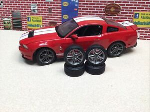 1/18 GREENLIGHT 2010 FORD SHELBY GT-500 Wheels for repairs or diorama brand new