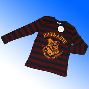 Harry Potter Long Sleeve T-Shirt Cotton Top Hogwarts  Age 9 - 14 Years