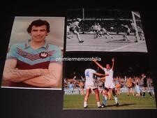WEST HAM UNITED FC 1980 FA CUP FINAL GOAL TREVOR BROOKING SIGNED REPRINT PHOTOS