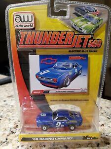 Auto World release 1 thunderjet series blue #9 1968 chevy camaro  slot car New