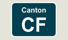 1x Canton Train Depot Sticker/Decal 100 x 77mm