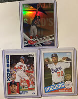 2017 Topps Opening Day Blue Foil SP Mookie Betts #113 /3 Cards W/ 84/19 & 85/20