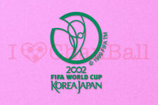 World Cup KOREA JAPAN 2002 Green Polyflex Soccer Patch / Badge