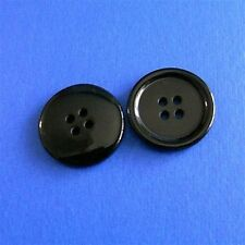 15 Large Big Coat Jacket Topcoat Craft Sewing Buttons 28mm  Black L147