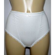 M & S Size 12 Firm Control High Leg knickers Panties Briefs cotton Rich White