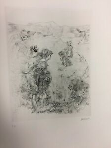 "HANS BELLMER- ""PAYSAGE""  ORIGINAL ETCHING   HAND SIGNED ON ARCHES PAPER  RARE"