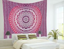 Queen Indian Mandala Tapestry Wall Hanging Hippie Urban Throw Cotton Bedspread