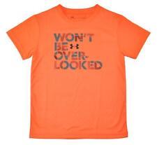 Under Armour Naranja para Niños No Be Over-Looked Dry Fit Camiseta Talla 5