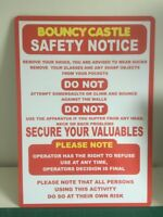 Bouncy Castle Safety Sign, Disco Dome, Inflatable Slide