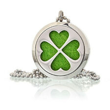 Aromatherapy Diffuser Necklace -Four Leaf Clover 30mm plus 10 different coloured