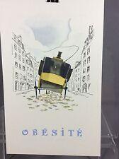 vintage illustration obesite'  laboratories drouet&plet
