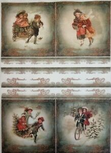 Rice Paper for Decoupage Scrapbook Craft Winter Picture Christmas 196