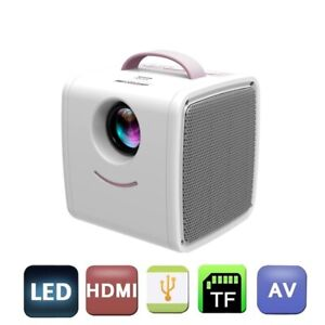 Mini Portable Projector Q2 LED Full HD 1080p Home Theater Cinema AV USB SD HDMI