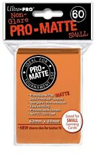 10x PACKS of Yugioh, Small size PRO-MATTE Ultra-Pro ORANGE Card Sleeves 60ct NEW
