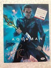 Willam Dafoe Signed Vilko Aquaman 11x14 Photo Poster Autographed PSA/DNA COA
