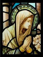 """*Postcard-""""Madonna in Prayer...on Stained Glass""""   ...Classic- (C9)"""