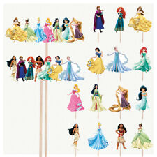 Disney Princess Birthday Cupcake & Party Food Toppers Decorations Picks 16 Pack