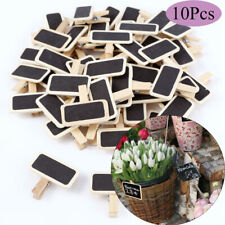 Price Stand Wooden Message Note Clip Notice Sign Chalkboard Mini Blackboard
