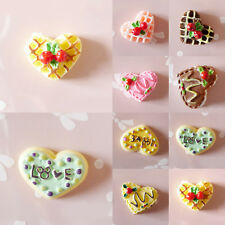 NEW 5pcs Resin Heart Cake Flatback Cabochons Appliques For Phone/Wedding/Crafts