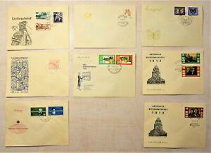 DDR FDC Ersttagsbrief Stempel Deustche Post Motive 1957 1963 1964 - 8 Stück