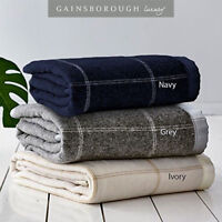 Gainsborough 350gsm Australian Wool Blend Check Blanket Queen/King Size RRP $239
