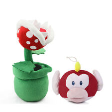 Super Mario Piranha Plant Decoration Flower and Cheep Cheep Fish Plush Toy