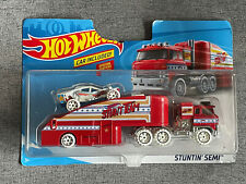 Hot Wheels STUNTIN' SEMI Vehicle Transport Detachable Trailer Damaged Package