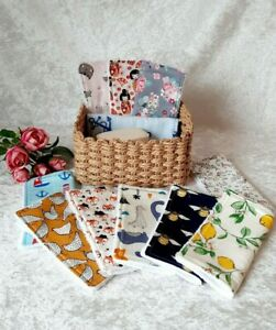 Handmade eco friendly cotton flannel washcloths - 13 designs available!