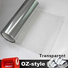 30 x 40cm Transparent Smoked Headlight Fog Taillight Tint Film Sticker Protector