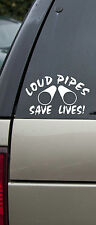 Loud Pipes Save Lives Vinyl Decal Motorcycle Sticker