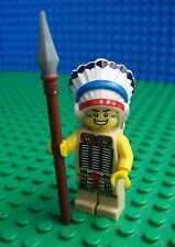 Lego Indian Chief minifig Western Cowboy Apache 8803 Minifigures Series 3