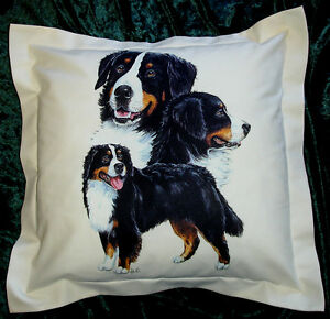 Hand crafted Bernese dogs cushion cover