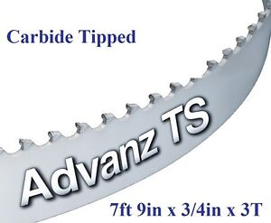 """1/"""" X 12-14-16mm Vari Tooth Pitch X 162/"""" Resaw King Carbide Tipped Bandsaw Blade"""