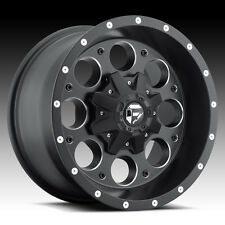 "(5) 16"" +1 Fuel Revolver Black Wheels Rims 5x127 5x4.5 Jeep Wrangler JK TJ YJ"