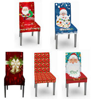 Christmas Decoration Chair Covers Dining Seat Santa Claus Xmas Home Party Decor