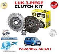 Per VAUXHALL AGILA Mk I a 1.0 12V 58 CV 2000-2005 ORIGINALE LUK CLUTCH KIT 3PC