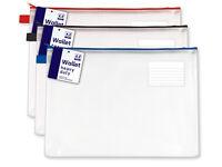 Large A4 Heavy Duty Stationery Wallet Folder Zip Closure Document File Storage