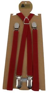 Mazeys Burgundy Classic 1/2 Inch Mod Skinhead Fully Adjustable Braces